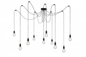 hanglamp 12079 modern kunststof metaal zwart mat