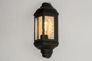 wandlamp 12093 klassiek eigentijds klassiek zwart mat aluminium metaal lantaarn