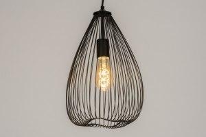 hanglamp 12139 sale landelijk rustiek modern eigentijds klassiek metaal zwart mat rond