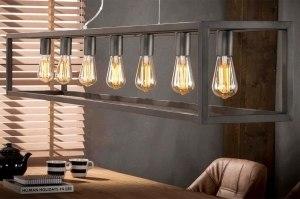 hanglamp 12165 modern design antraciet donkergrijs zilver  oud zilver metaal langwerpig rechthoekig