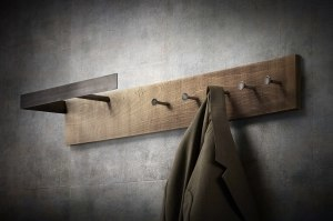 kapstok 12183 modern landelijk rustiek industrie look stoer raw hout oldmetal (gunmetal) hout metaal