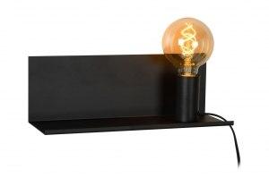 wandlamp 12240 modern industrie look stoer raw zwart mat metaal rechthoekig