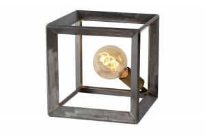 tafellamp 12250 industrie look modern stoer raw metaal staalgrijs vierkant