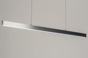 hanglamp 12410 design modern aluminium geschuurd aluminium metaal aluminium langwerpig rechthoekig