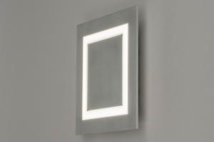 plafondlamp 12414 modern aluminium metaal aluminium vierkant