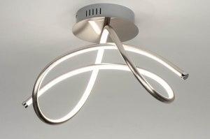 plafondlamp 12434 modern staal rvs metaal staalgrijs rond