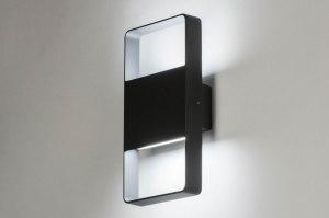 wandlamp 12460 design modern metaal antraciet donkergrijs rechthoekig