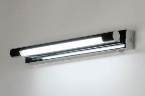 wandlamp 12472 modern metaal chroom langwerpig