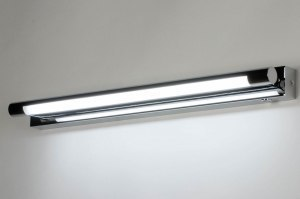 wandlamp 12473 modern staal rvs metaal chroom langwerpig