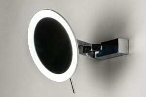 spiegel 12476 modern metaal chroom rond