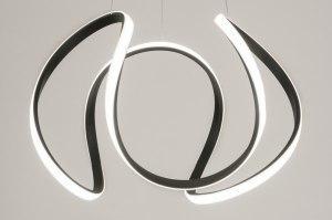 hanglamp 12483 design modern kunststof metaal zwart mat rond
