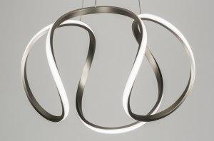 hanglamp 12484 design modern retro staal rvs staalgrijs