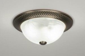 plafondlamp 12497 klassiek brons metaal brons rond