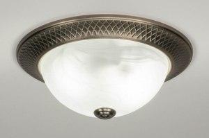 plafondlamp 12498 klassiek brons metaal brons rond