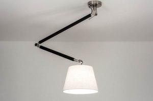 hanglamp 12500 modern stoer raw staalgrijs wit zwart mat metaal
