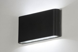 wandlamp 12504 design modern aluminium metaal antraciet donkergrijs rechthoekig