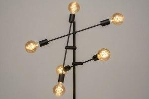 staande lamp 12516 modern retro metaal zwart mat