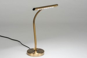 tafellamp 12519 modern klassiek eigentijds klassiek brons brons metaal langwerpig rond