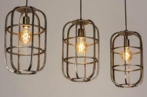 hanglamp 12571 sale industrie look landelijk rustiek stoer raw aluminium metaal staalgrijs rond langwerpig rechthoekig