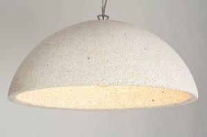 hanglamp 12585 modern kunststof wit mat creme rond