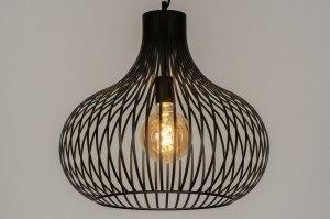hanglamp 12600 design modern metaal zwart mat rond