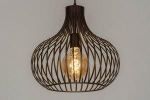 hanglamp 12601 design modern metaal brons bruin rond