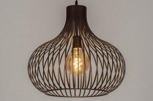 hanglamp 12602 design modern metaal brons bruin rond