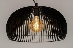 hanglamp 12603 design modern metaal zwart mat rond