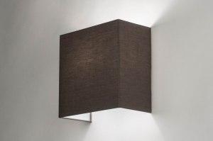 wandlamp 12629 modern stof grijs vierkant