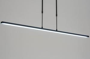 hanglamp 12661 modern metaal zwart mat langwerpig rechthoekig