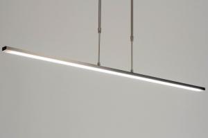 hanglamp 12662 modern staal rvs metaal langwerpig rechthoekig