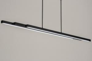 hanglamp 12670 design modern metaal zwart mat langwerpig rechthoekig