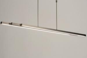 hanglamp 12671 design modern staal rvs metaal staalgrijs langwerpig rechthoekig