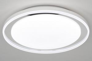 plafondlamp 12745 modern kunststof metaal wit rond