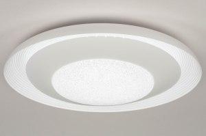 plafondlamp 12749 sale modern kunststof wit rond