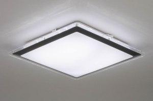 plafondlamp 12754 modern kunststof wit vierkant