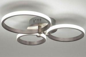 plafondlamp 12756 modern aluminium metaal aluminium rond