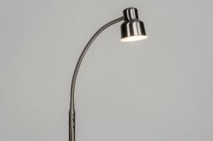 vloerlamp 12828 modern staal rvs metaal staalgrijs rond