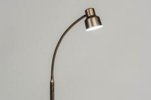 vloerlamp 12829 modern eigentijds klassiek metaal brons rond