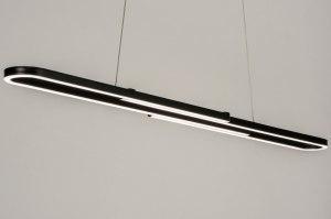 hanglamp 12854 modern metaal zwart mat antraciet donkergrijs langwerpig