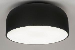 Deckenleuchte 12858 Design modern Metall schwarz matt rund