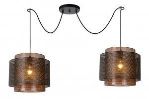 hanglamp 12881 modern metaal zwart roodkoper rond