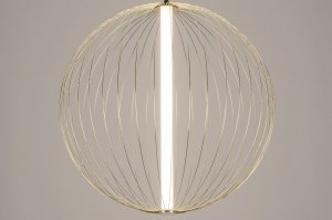 hanglamp 12886 modern messing glanzend metaal goud messing rond