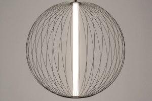 hanglamp 12887 modern metaal zwart glans rond