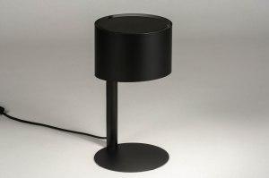 tafellamp 12897 modern metaal zwart mat rond