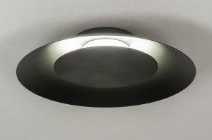plafondlamp 12908 modern metaal zwart mat rond