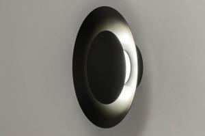 Deckenleuchte 12909 modern Metall schwarz matt rund