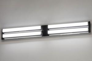 wandlamp 12948 modern metaal chroom langwerpig rechthoekig