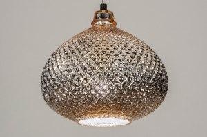 Pendelleuchte 12956 modern zeitgemaess klassisch Glas Gold rund