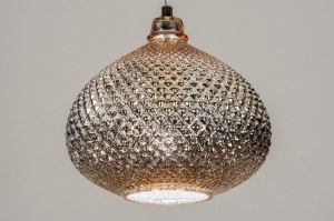 hanglamp 12956 modern eigentijds klassiek glas goud rond